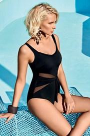 Włoski jednoczęściowy modelujący kostium kąpielowy Miradonna MI8026BLK