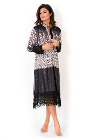 Włoska sukienka plażowa o koszulowym kroju Miradonna Africa