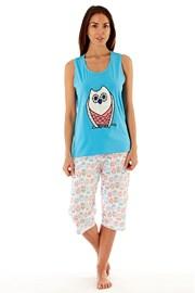 Damska piżama bawełniana Owl Blue
