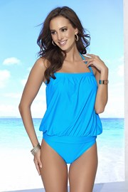 Górna część damskiego kostiumu kąpielowego tankini bez fiszbinów Eva Blue