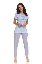 Piżama dla ciężarnych i karmiących Best Mom Blue