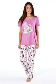 Damska piżama bawełniana Parrot Pink