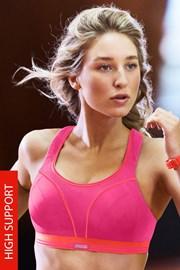 Biustonosz sportowy Shock Absorber Ultimate Run S5044 Pink bez fiszbinów