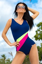 Jednoczęściowy damski kostium kąpielowy Rainbow
