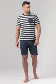 Męska piżama RÖSSLI Navy Stripes