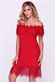 Elegancka damska koszula nocna Sevilla czerwona