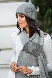 Damska elegancka czapka Silvia szara
