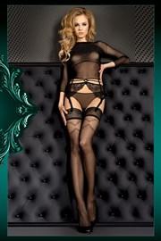 Luksusowe samonośne pończochy Smeraldo 390