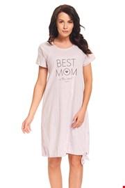Koszula nocna dla ciężarnych i karmiących Best Mom Pink