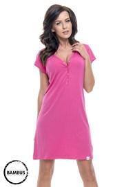 Bambusowa koszula nocna dla ciężarnych i karmiących Joy Pink