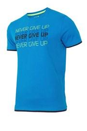 Męski T-shirt sportowy Never Give Up