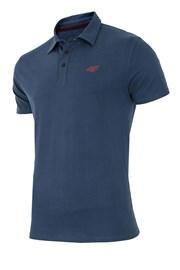 Męska koszulka polo 4F Navy 100% bawełny