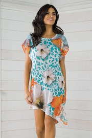 Włoska sukienka plażowa Vacanze z kolekcji Luxury Garden