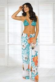 Damskie włoskie spodnie plażowe Vacanze z kolekcji Luxury Garden