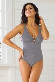 Jednoczęściowy kostium kąpielowy Vacanze Chevron bez fiszbinów