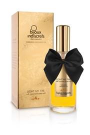 Bijoux Indiscrets Rozgrzewający karmelowy olejek do masażu Light My Fire