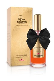 Bijoux Indiscrets Rozgrzewający olejek do masażu Light My Fire poziomkowy