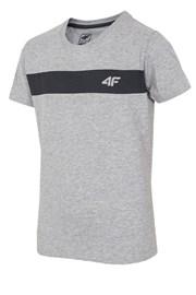 Dziecięcy T-shirt bawełniany Grey 4F