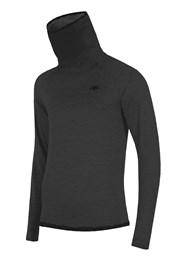 Męska bluza funkcyjna z golfem 4F Grey