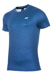 Męska koszulka fitnessowa 4F Dynamic Blue
