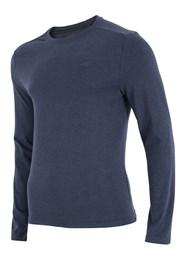 Męska bluza z długimi rękawami 4F niebieska