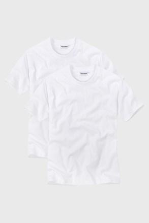 Dwupak T-shirtów męskich z dekoltem V White