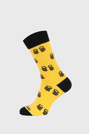 Skarpetki Fusakle Na zdrowie żółte