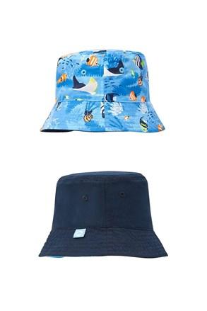 Dwustronny kapelusz chłopięcy