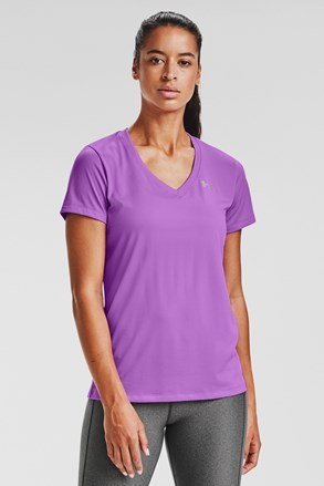 Fioletowy T-shirt sportowy Under Armour Solid