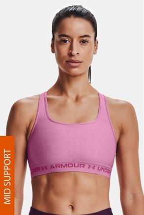Różowy biustonosz sportowy Under Armour Crossback Heather