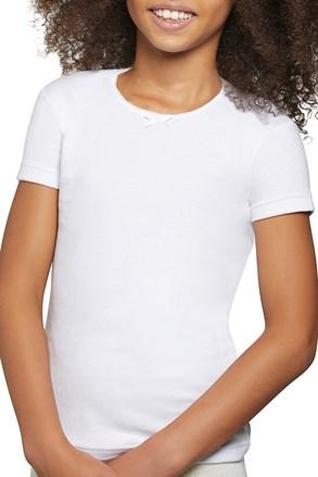Dziewczęcy bawełniany T-shirt Simple