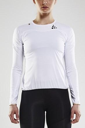 T-shirt z długimi rękawami CRAFT Run Shade LS biały