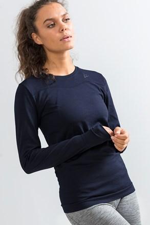 Damski T-shirt Craft Fuseknit Comfort granatowy