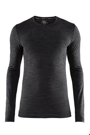 Męski T-shirt Craft Fuseknit Comfort ciemnoszary