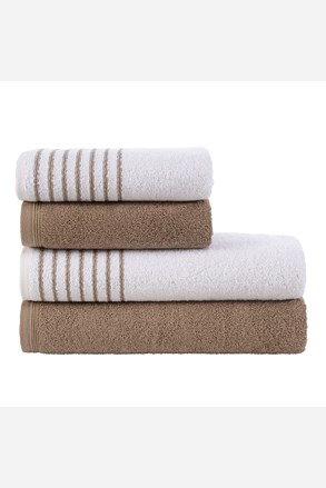 Komplet ręczników Eleganza brązawy