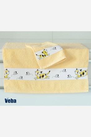 Dziecięcy ręcznik plażowy Nora Myszy jasnożółty