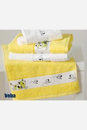 Dziecięcy ręcznik Rujana Myszy żółty
