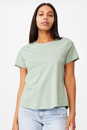 Damski T-shirt basic z krótkim rękawem Crew zielony