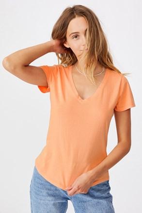 Damski T-shirt basic z krótkimi rękawami One brzoskwiniowy