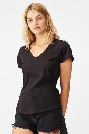 Damski T-shirt basic z krótkimi rękawami One czarny