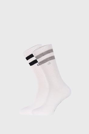 2 PACK białych skarpetek Calvin Klein Maurice