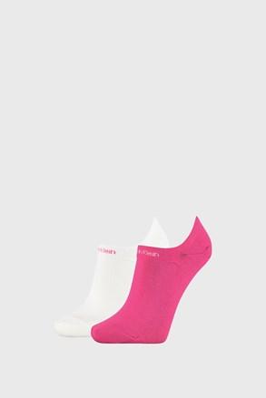 2 PACK damskich skarpetek Calvin Klein Leanne różowo-białe