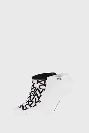 2 PACK białych skarpetek Calvin Klein Deangelo