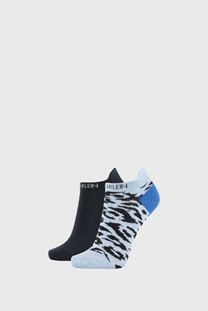 2 PACK damskich skarpetek Calvin Klein Libby niebieskie