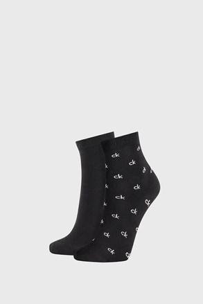 Dwupak czarnych damskich skarpetek Calvin Klein Gretchen