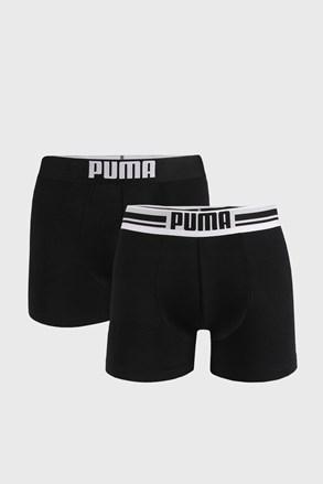Dwupak czarnych bokserek Puma Placed Logo