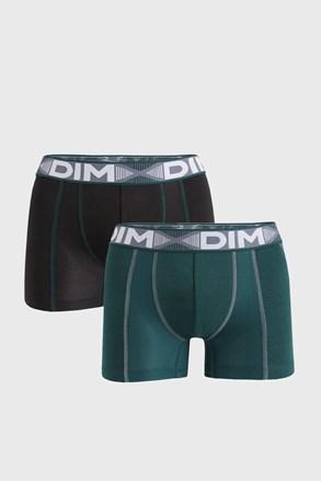 2 PACK czarno-zielonych bokserek DIM Flex Air