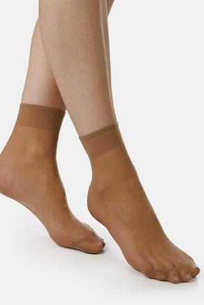 Dwupak damskich nylonowych skarpetek EVONA Silver 20 DEN