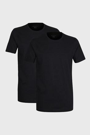 2 PACK czarnych T-shirtów Bugatti O-Neck