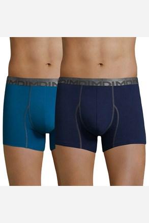 Dwupak bokserek męskich DIM Cotton 3D Flex Blue
